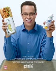 "Jared's Subway ""Got Milk"" advertisement"